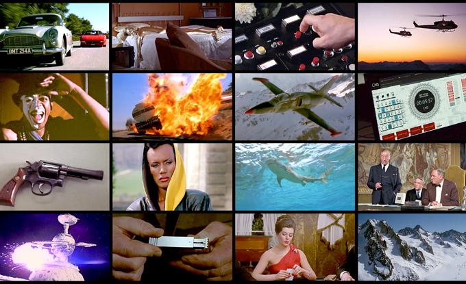 Oli Sorenson, James Bond Megamix (détail), 2018, arrêt sur image, 60 min, numérique