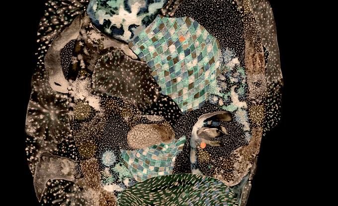 Louise Mercure, Les Irradiées # 13 - sans larmes, 2018, estampe numérique, 559 x 432 cm
