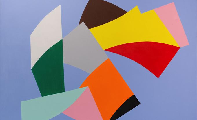Marcel Barbeau, Diamants-larmes, 2004, acrylique sur toile, 150 x 150 cm