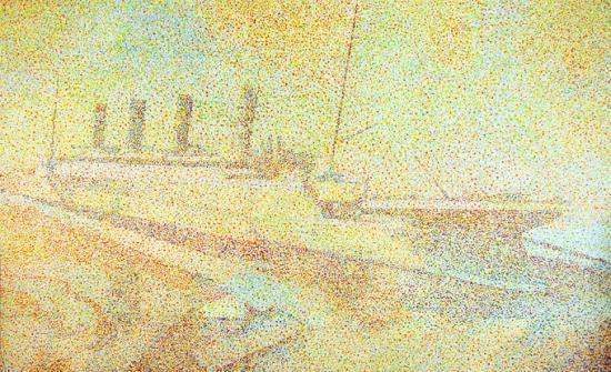 Andres Manniste, Titanic, 2012, acrylique sur canevas, 3,1 x 1,9 m