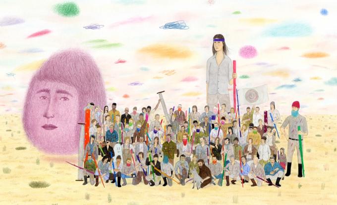 Jay Dart, Would be, 2018, graphite, aquarelle et pastel