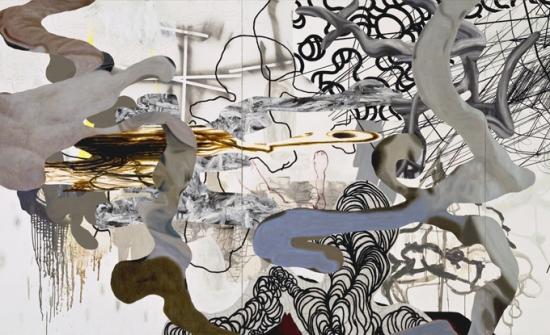 Jean-Sébastien Denis, Tempête # 1, 194 x 412 cm. Photo de Guy L'heureux