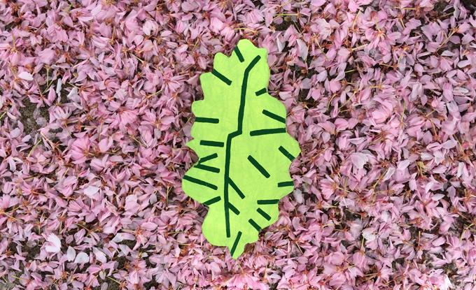 Sean Montgomery, The Windblown Leaf, 2018, acrylique sur foam, 8 x 10 po