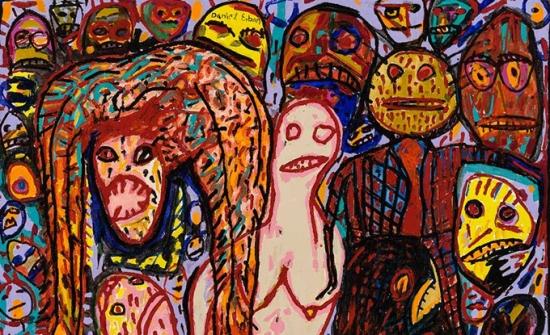 Daniel Erban, Crowd Pleaser, 1990, huile sur toile, 97 x 140 cm