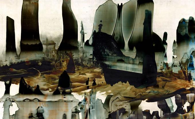 Pierre-Yves Girard, Ecotone 2, 2019, huile sur toile, 107 x 133 cm